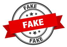 Fake Label. Fake Red Band Sign...