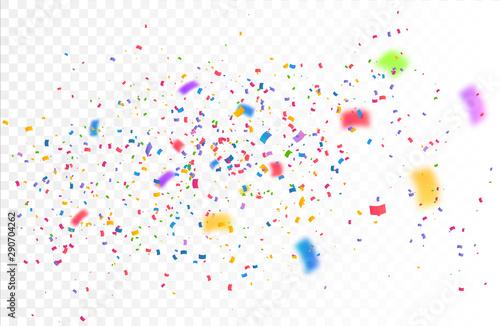 Obraz Confetti Vector Background - fototapety do salonu