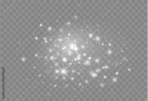 Fototapeta Glowing light particles. Vector Magic decoration obraz