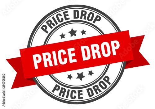 Pinturas sobre lienzo  price drop label. price drop red band sign. price drop