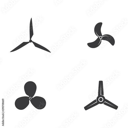 Vászonkép  Fan vector illustration icon Template