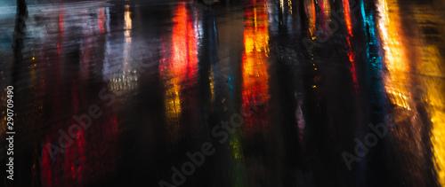 Fototapeta Illumination and neon night lights of NYC obraz