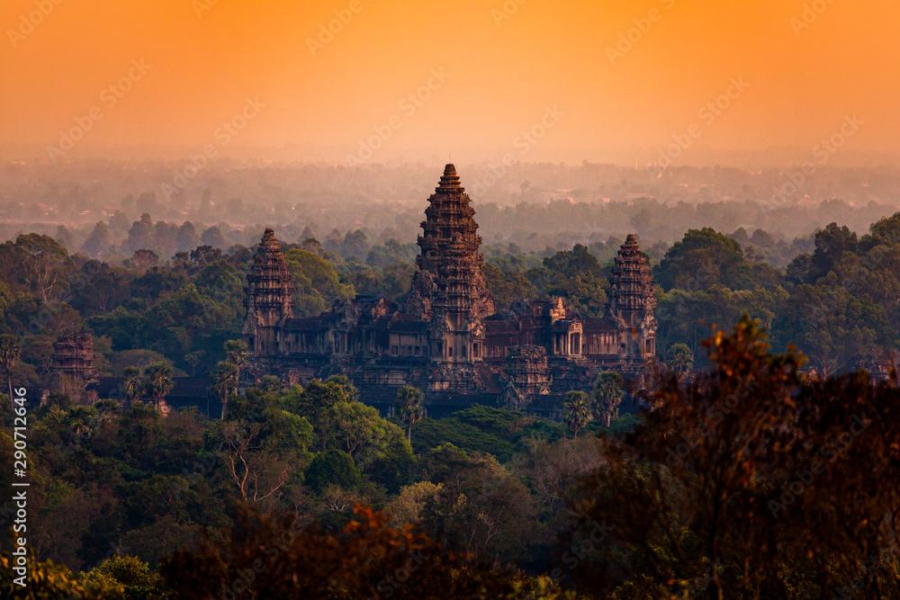 Fototapeta Angkor Wat, sunset, Cambodia