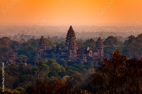 Foto  Angkor Wat, sunset, Cambodia