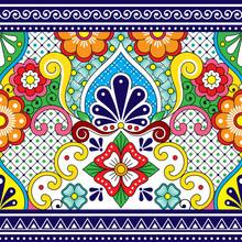 Mexican Talavera Vector Seamle...
