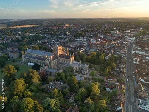 Fotografering St Albans City UK in the Early Morning