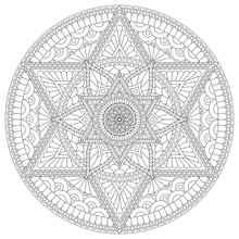 Coloring Page With Mandala Wit...