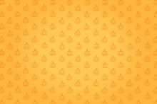 Background With Halloween Pattern. Pumpkin Jack In Sketch Style Isolated On White. Festive Texture For Packages, Backgrounds, Web Pages