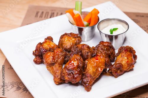 Restaurant Food Fried Chicken Wings Fototapet