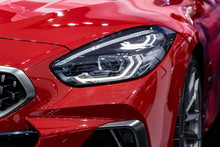 Car Front Red Headlight New Design