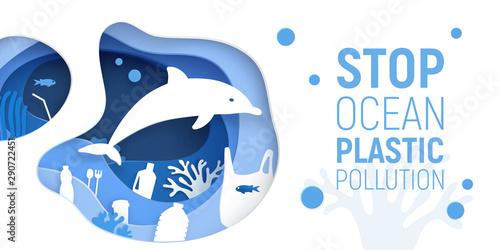 Pinturas sobre lienzo  Ocean Plastic Pollution