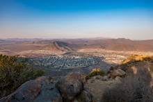 View Of Graaff-Reinet, South Africa, From The Toposcope Lookout Point