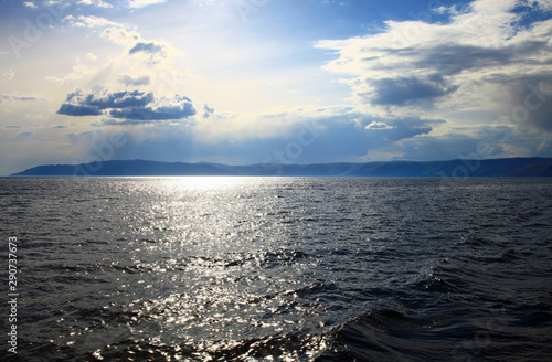 Fototapeta  Sunset on the Lake Baikal, Siberia. Russia.