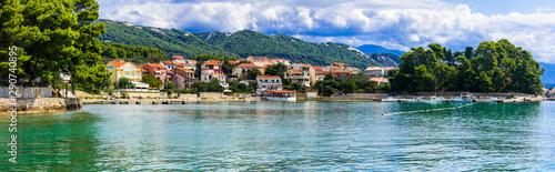 Idyllic beautiful island Rab. Travel and holidays in Croatia