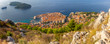 Panoramic aerial view of Dubrovnik on a sunny morning.