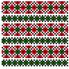 Christmas Fair Isle Seamless Pattern/Print Background In Vector  This Is A Classic Christmas Fair Isle Pattern Suitable For Both Online/physical Medium Such As Website Resources, Graphics, Prints