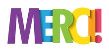 Bannière Typographique Vecteur MERCI!