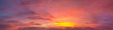 Amazing View Of Red Sunset Ove...
