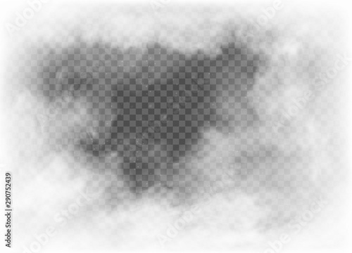 Fotomural fog and smoke isolated on transparent background