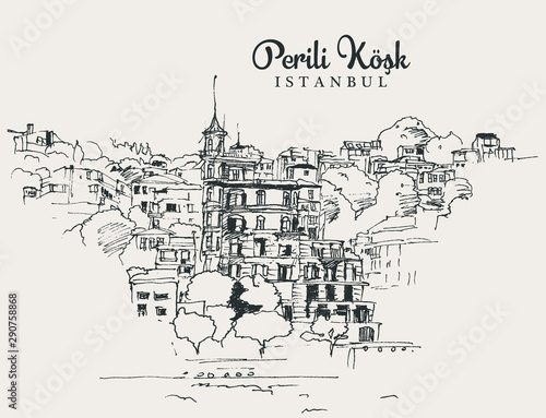 Valokuvatapetti Drawing sketch illustration Perili Kosk