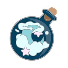 Magic Potion: Blue Bottle Jar ...