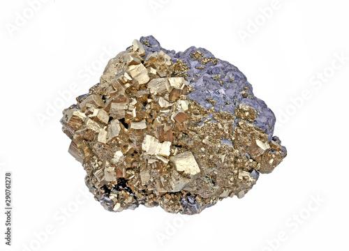 Photo Galena and pyrite polymetallic compounds