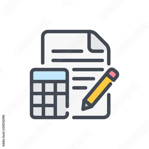 Fotografía Calculation color line icon