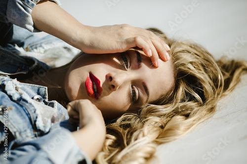 Fotografie, Obraz  a girl portrait with a professional makeup