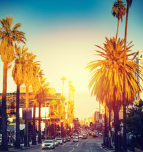 Colorful Sunset In Hollywood