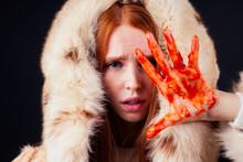 Sad Redhaired Ginger Fashion V...