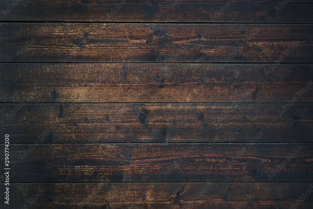 Fototapeta Old Vintage dark brown wooden table textured background (high details)