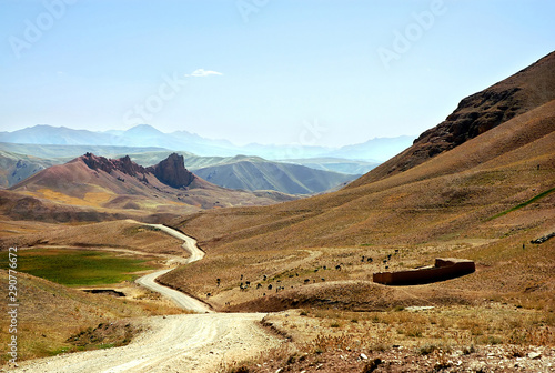 Mountain scenery of Afghanistan near Yakawlang in Bamyan (Bamiyan) Province Wallpaper Mural