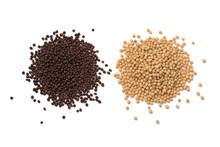 Heap Of Yellow And Brown Mustard Seed