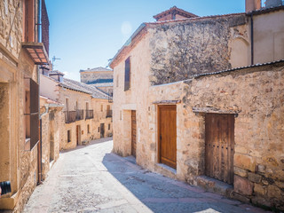 Fototapeta na wymiar The beautiful medieval village of Pedraza, which is located in Castile And Lion, in Spain, Europe