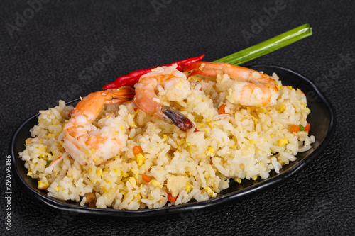 Thai style fried rice with prawn Wallpaper Mural