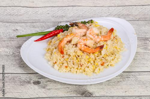 Photo  Thai style fried rice with prawn