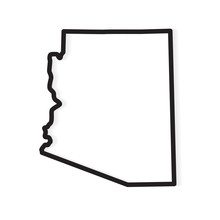 Black Outline Of Arizona Map- ...