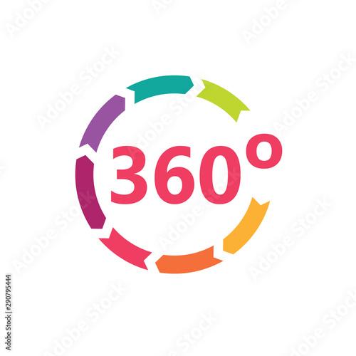 Fototapeta colorful angle 360 degrees icon- vector illustration obraz