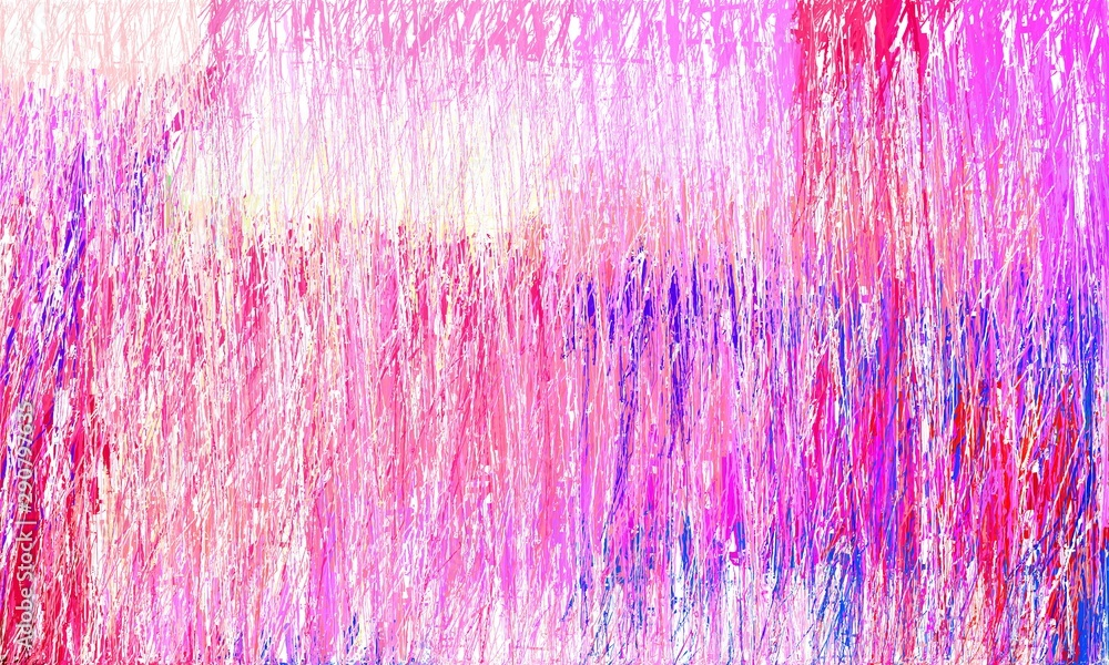 Fototapety, obrazy: grunge drawing strokes background with copy space for text or image with pastel pink, deep pink and royal blue colors. can be used as wallpaper, background or graphic element