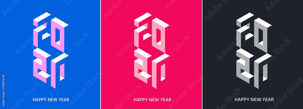Obraz 2020. New Year. Numbers set fototapeta, plakat