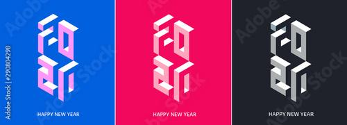 Fototapeta 2020. New Year. Numbers set obraz