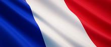Waving Flag Of France - Flag Of France - 3D Illustration
