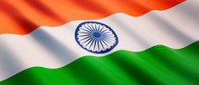 Waving Flag Of India - Flag Of India - 3D Illustration