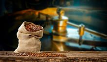 Coffee Beans In Jute Sacks Wit...