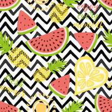 Seamless Pattern With Pineappl...