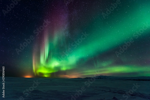 Canvas Prints Northern lights Northern lights aurora borealis in the winter