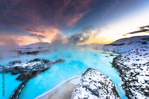Carta da parati Blue Lagoon hot spring spa Iceland