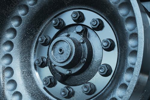 gear wheel transmission machine mechanic power industrial engine Canvas Print