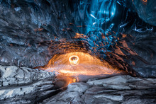Fire Show Inside An Ice Cave I...