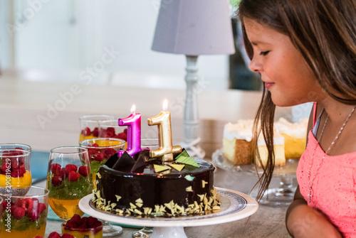 Fototapeta Urodziny dziecka, kinderbal, tort urodzinowy, sto lat, happy birthday obraz